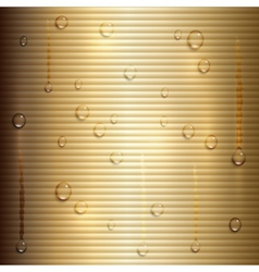 abstract beige background with stripes and water vector image vector image