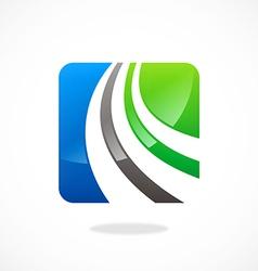 business icon loop logo vector image