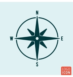 Compass icon isolated vector image vector image