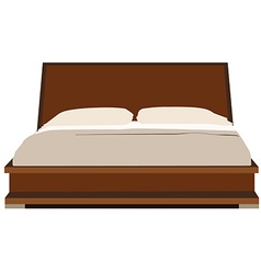 Double bed vector image