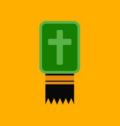 flat icon stylish background bible book vector image
