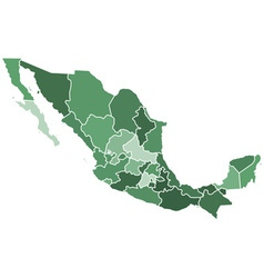 Mexico regions map vector image