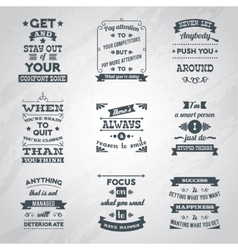 Success quotes set vector image