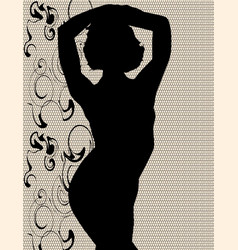 swimsuit silhouette vector image