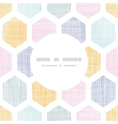 Abstract colorful honeycomb fabric textured frame vector image