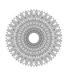 Coloring book mandala circle lace ornament round vector