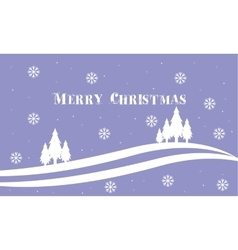 Merry Christmas spruce backgrounds landscape vector image