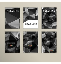 Set of patterns triangles for books vector image
