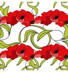 summer floral seamless wallpaper vector image