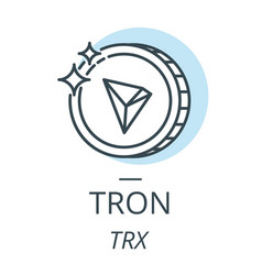 tron cryptocurrency coin line icon of virtual vector image