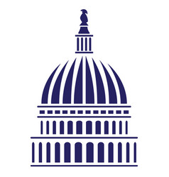 us capitol dome vector image