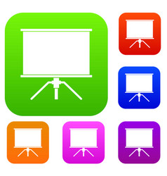 blank projection screen set color collection vector image vector image