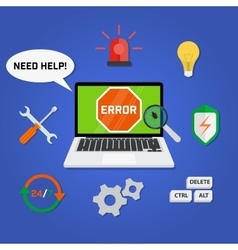 Concept computer technical support service vector