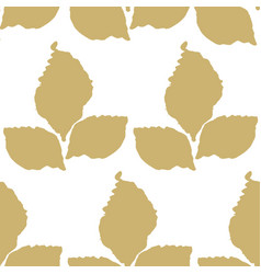 decorative seamless pattern with leaf vector image vector image