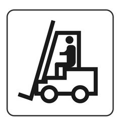Forklift truck sign vector