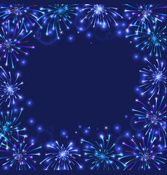 colorful firework frame vector image