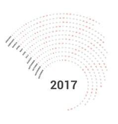 2017 Calendar curve simply design template vector image