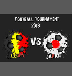 4556- belgium vs japan vector