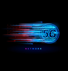 5g wireless connection for technology banner vector