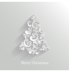 Absrtact Floral Christmas Tree Background Trendy vector image