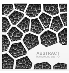Abstract grayscale geometric pattern vector