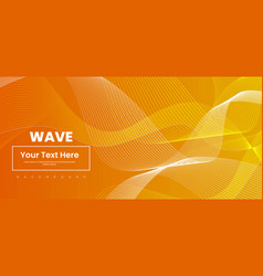 Abstract wave line colorful background vector