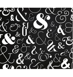 ampersand pattern chalk vector image
