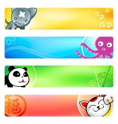anime banners vector image