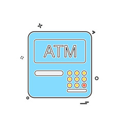 atm machine icon design vector image