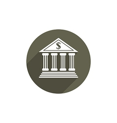 Bank icon isolated vector image