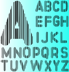 Barcode Alphabet 2 A to Z vector