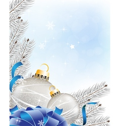 Blue sparkling New Year background vector image