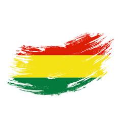 bolivian flag grunge brush background vector image