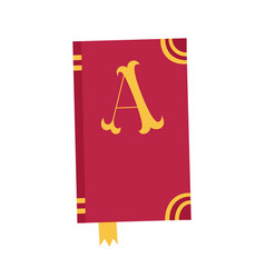 book icon notebook with letter a vector image