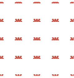 brick wall icon pattern seamless white background vector image