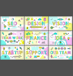 business and creative team-building linear posters vector image