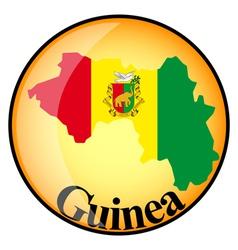 button Guinea vector image vector image