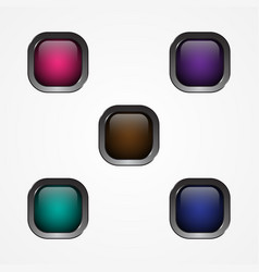button square vector image