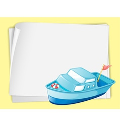 Cartoon Paper Space Boat vector image