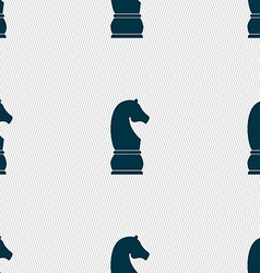 Chess knight icon sign Seamless pattern with vector image
