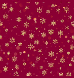 christmas seamless pattern from white snowflakes vector image