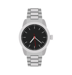 classical grey hands watch for man vector image