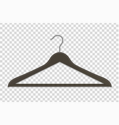 clothes hanger isolated vector image