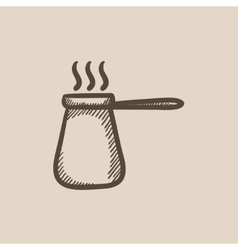 Coffee turk sketch icon vector
