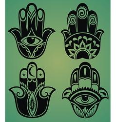 Collection hamsa hands vector