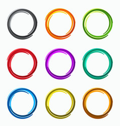 Color abstract circles loops logo vector