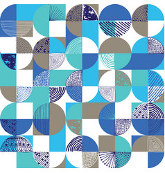 Creative geometric and handdrawn seamless pattern vector