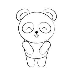 cute sketch draw koala cartoon vector image