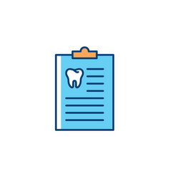 Dentist medical history icon dentists notebook vector