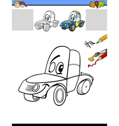 Drawing and coloring activity vector